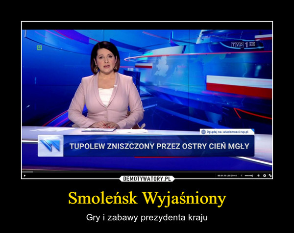 Smoleńsk Wyjaśniony – Gry i zabawy prezydenta kraju