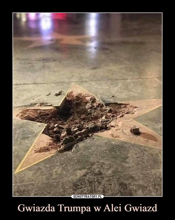 Gwiazda Trumpa w Alei Gwiazd –