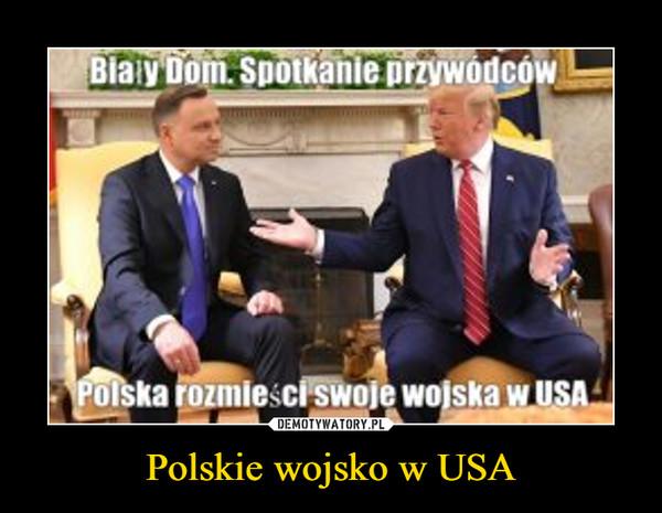 Polskie wojsko w USA –