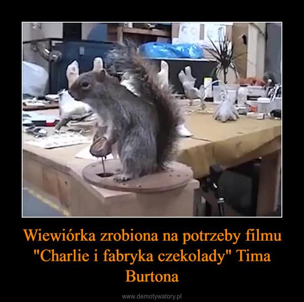 """Wiewiórka zrobiona na potrzeby filmu """"Charlie i fabryka czekolady"""" Tima Burtona –"""