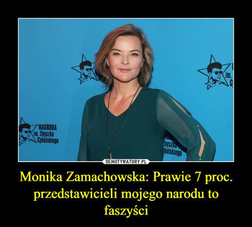Monika Zamachowska: Prawie 7 proc. przedstawicieli mojego narodu to faszyści