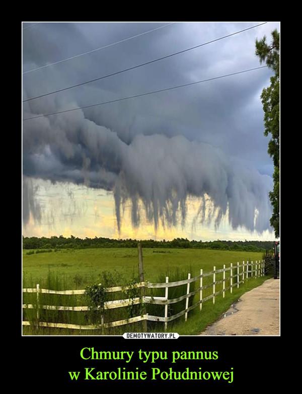 Chmury typu pannus w Karolinie Południowej –