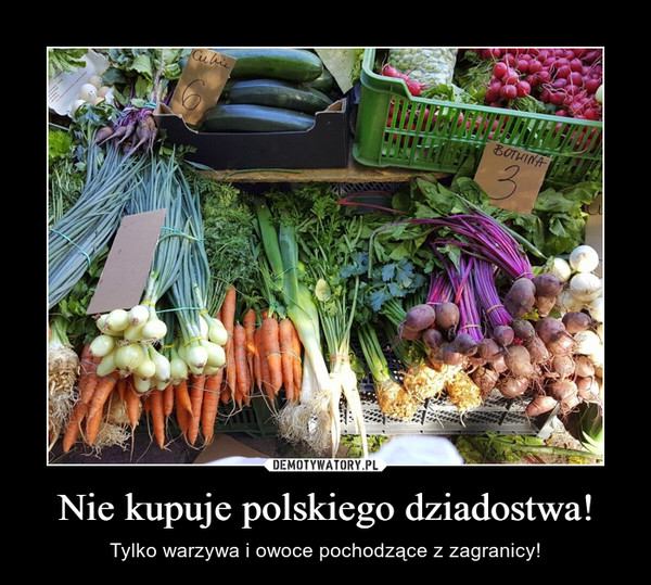 Nie kupuje polskiego dziadostwa! – Tylko warzywa i owoce pochodzące z zagranicy!