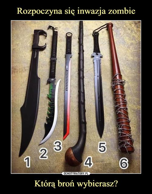 Rozpoczyna się inwazja zombie Którą broń wybierasz?