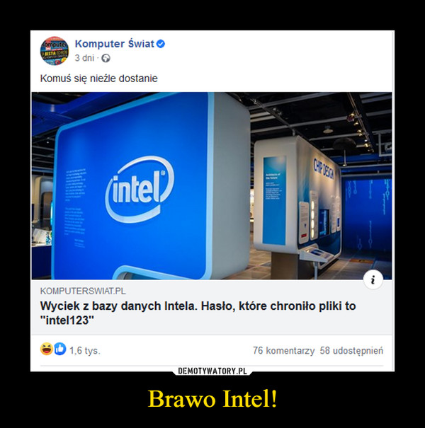 Brawo Intel! –