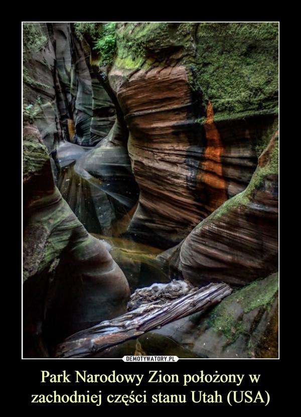 Park Narodowy Zion położony w zachodniej części stanu Utah (USA) –