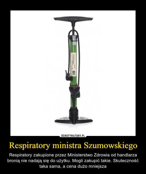 Respiratory ministra Szumowskiego