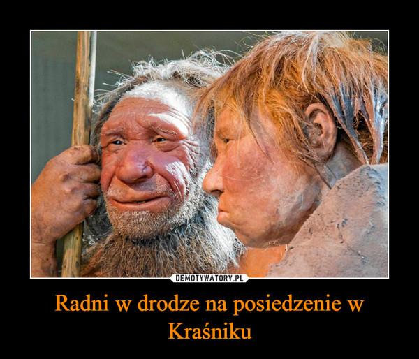 Radni w drodze na posiedzenie w Kraśniku –