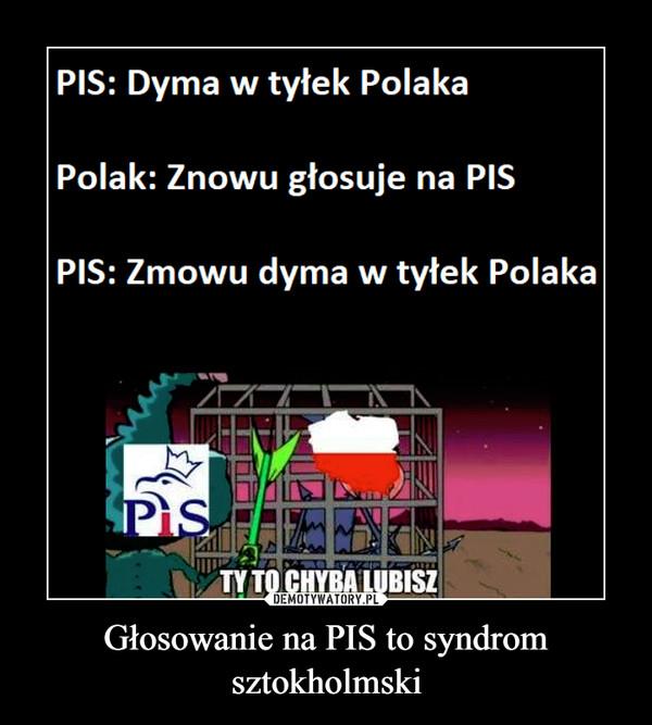 Głosowanie na PIS to syndrom sztokholmski –
