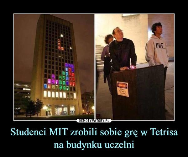 Studenci MIT zrobili sobie grę w Tetrisa na budynku uczelni –