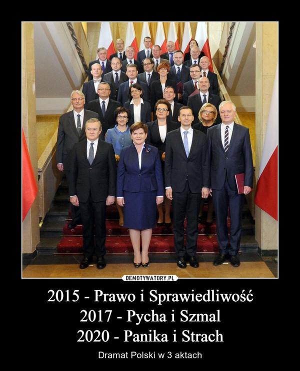 2015 - Prawo i Sprawiedliwość2017 - Pycha i Szmal2020 - Panika i Strach – Dramat Polski w 3 aktach