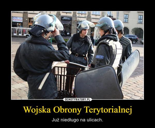 Wojska Obrony Terytorialnej – Już niedługo na ulicach.