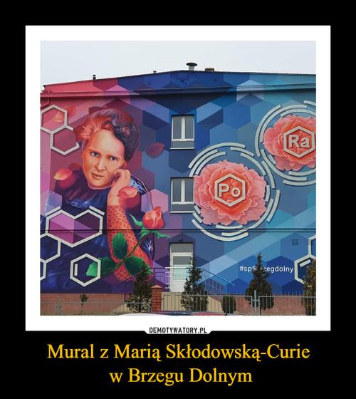 Mural z Marią Skłodowską-Curie  w Brzegu Dolnym