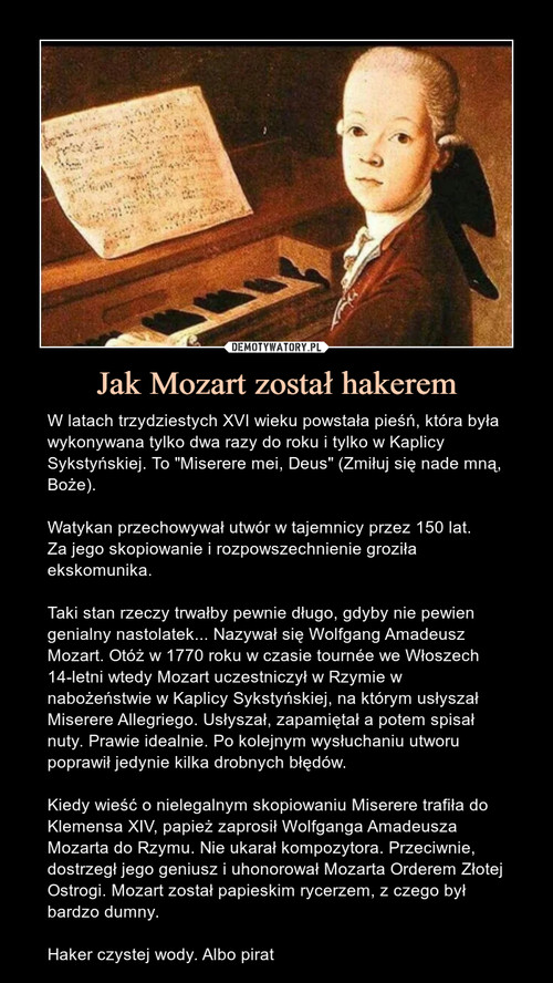 Jak Mozart został hakerem