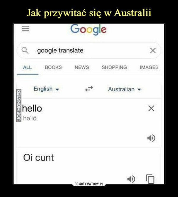 –  google translatehelloOi cunt