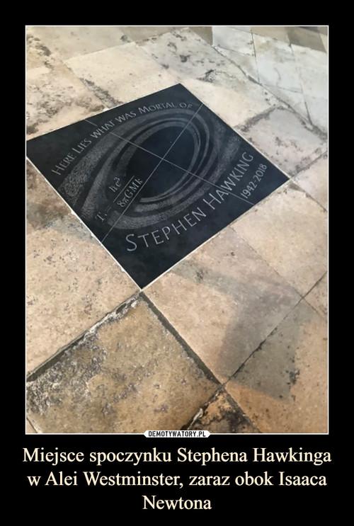Miejsce spoczynku Stephena Hawkinga w Alei Westminster, zaraz obok Isaaca Newtona