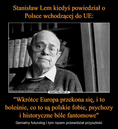 """Stanisław Lem kiedyś powiedział o Polsce wchodzącej do UE: """"Wkrótce Europa przekona się, i to boleśnie, co to są polskie fobie, psychozy i historyczne bóle fantomowe"""""""