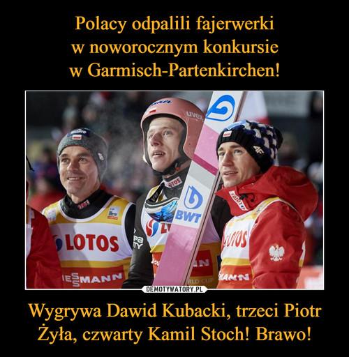 Polacy odpalili fajerwerki w noworocznym konkursie w Garmisch-Partenkirchen! Wygrywa Dawid Kubacki, trzeci Piotr Żyła, czwarty Kamil Stoch! Brawo!