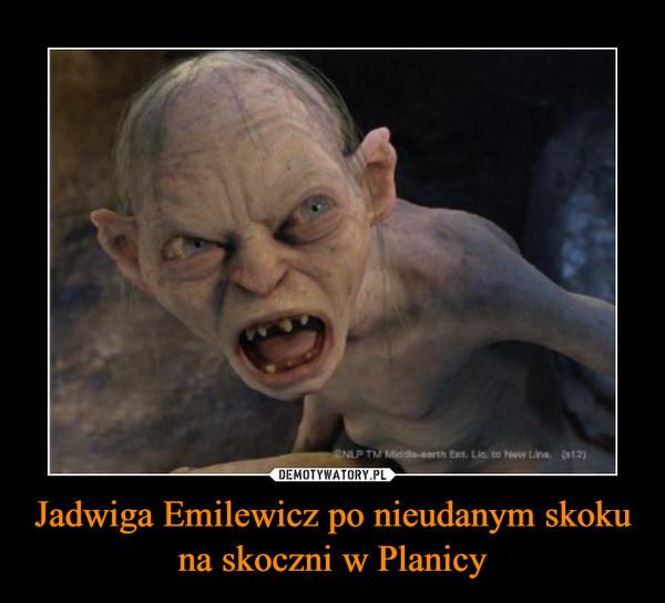 Jadwiga Emilewicz po nieudanym skoku na skoczni w Planicy –