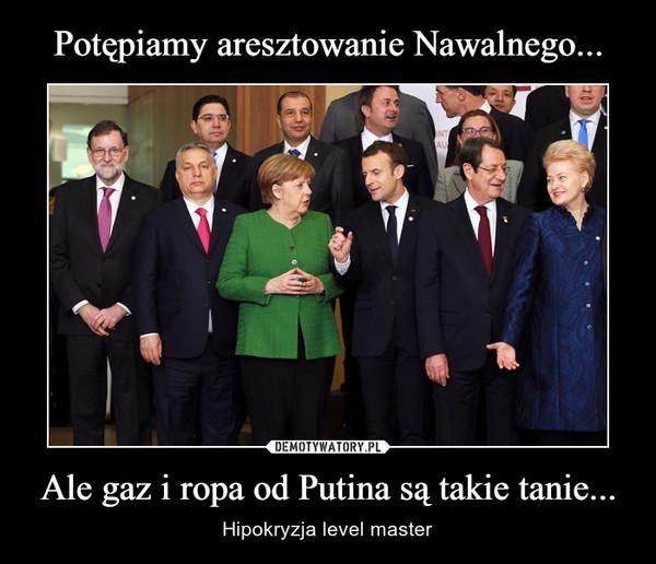 Ale gaz i ropa od Putina są takie tanie... – Hipokryzja level master
