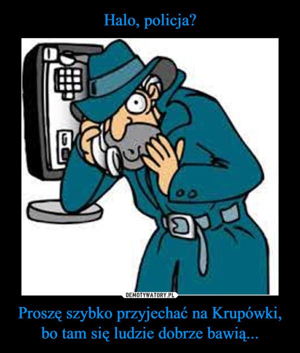 Proszę szybko przyjechać na Krupówki, bo tam się ludzie dobrze bawią... –
