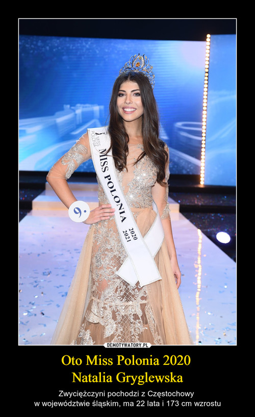 Oto Miss Polonia 2020  Natalia Gryglewska