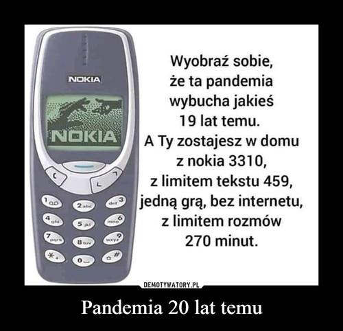 Pandemia 20 lat temu