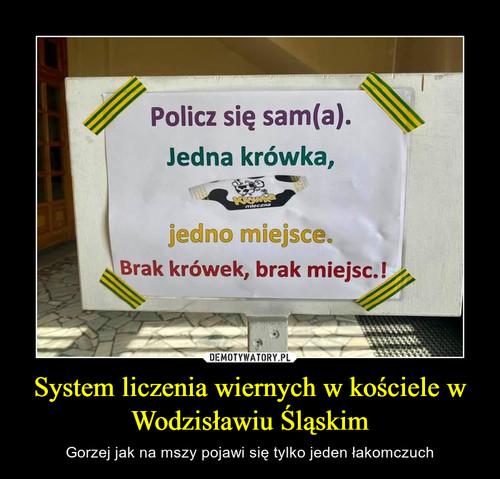System liczenia wiernych w kościele w Wodzisławiu Śląskim