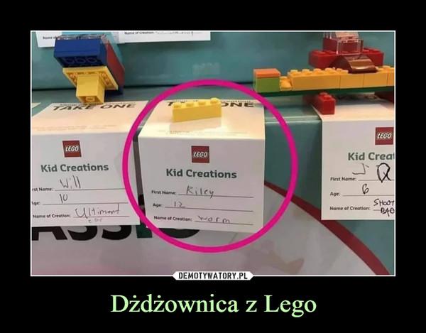 Dżdżownica z Lego –