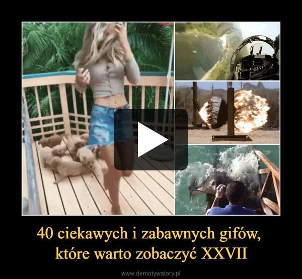 40 ciekawych i zabawnych gifów, które warto zobaczyć XXVII –