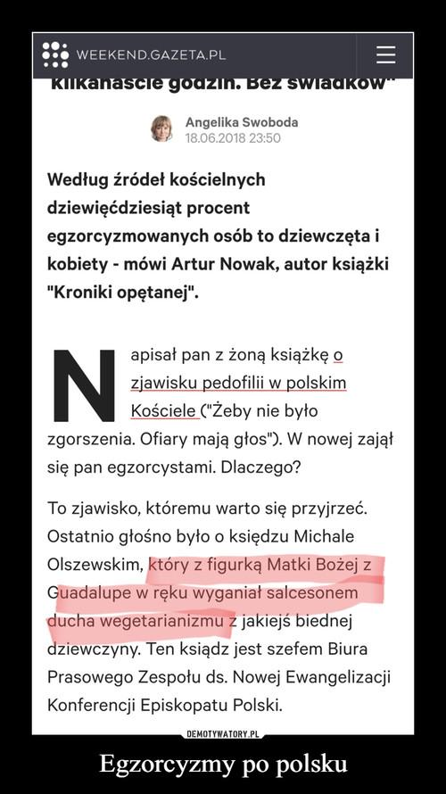 Egzorcyzmy po polsku