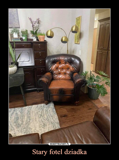 Stary fotel dziadka