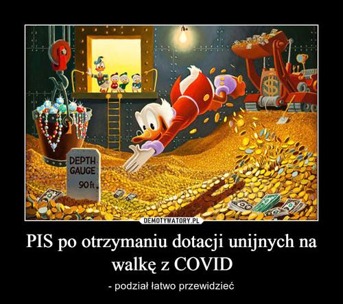 PIS po otrzymaniu dotacji unijnych na walkę z COVID