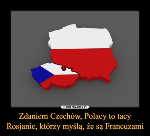 Zdaniem Czechów, Polacy to tacy Rosjanie, którzy myślą, że są Francuzami –