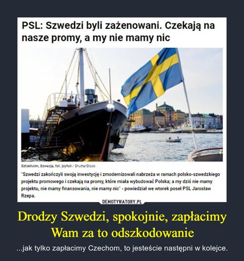 Drodzy Szwedzi, spokojnie, zapłacimy Wam za to odszkodowanie