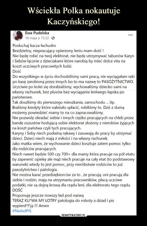 Wściekła Polka nokautuje Kaczyńskiego!