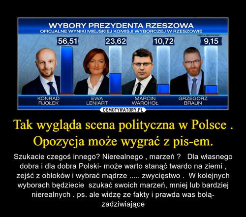 Tak wygląda scena polityczna w Polsce . Opozycja może wygrać z pis-em.