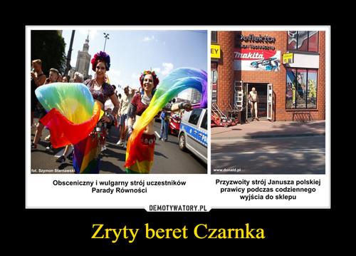 Zryty beret Czarnka