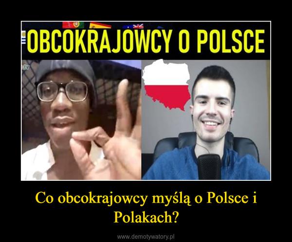 Co obcokrajowcy myślą o Polsce i Polakach? –