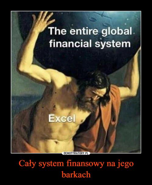 Cały system finansowy na jego barkach
