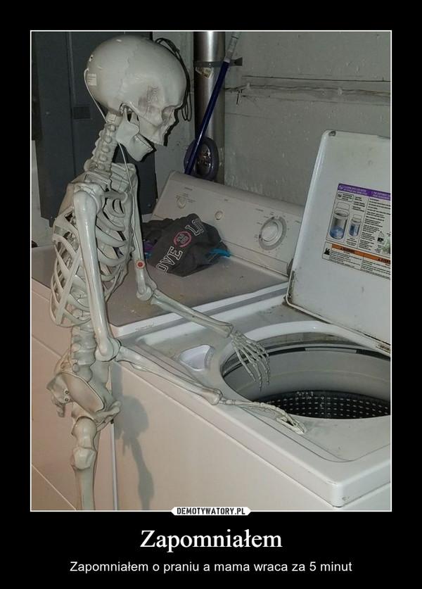 Zapomniałem – Zapomniałem o praniu a mama wraca za 5 minut