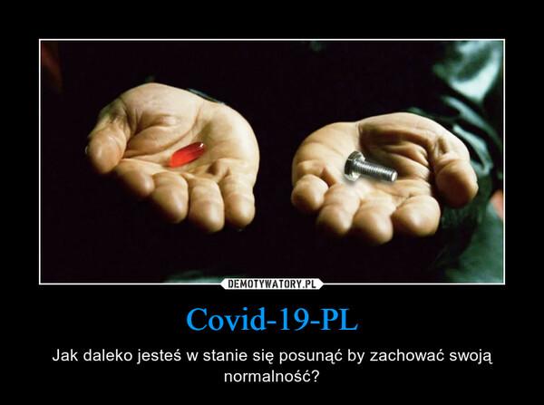 Covid-19-PL – Jak daleko jesteś w stanie się posunąć by zachować swoją normalność?